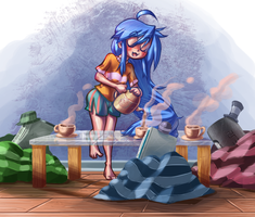 Konata tea party by G-3-n-o