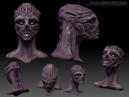 Quarian female 3d sketch design by Sythgara