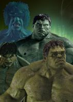 Evolution of The Hulk by predatorX20