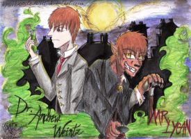 Dr.Andrew Weintz and Mr.Lycan by bluerockzuko975