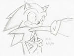 SonicSketch1- Throwin' it off by Knuckle-Head