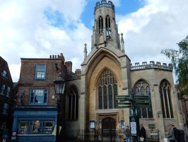 Crabtree and Evelyn and Saint Helen's Church by rlkitterman
