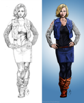 Android 18 [Small] by Thecoldtrojan