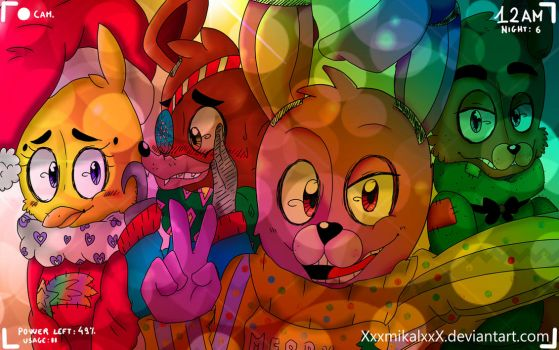 :Disco Christmas: -Fnaf by HimeMikal