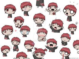 The many faces of Sasori by saurien