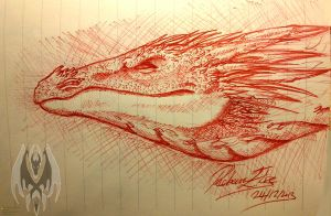 Dragon Head Sketch 2 by DragonGirl787