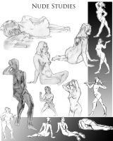 Portfolio page lifedrawing by JuliaSculia