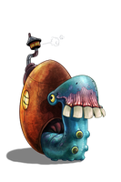 Snail Monsta by ArtofRoshan