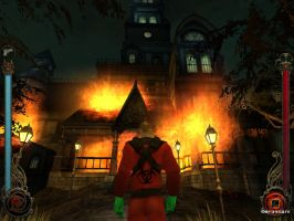 Malk infront of Grouts Mansion by cytherina