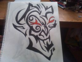 tribal mask by kemsley