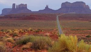 Approaching Monument Valley by MogieG123