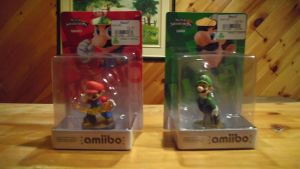 The Mario And Luigi amiibo Figures by shnoogums5060