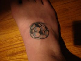 soccer ball tattoo by taboo1991
