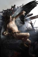 Fallen angel by Malenkax by darkclub