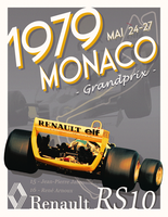1979 Monaco Formula One Grand Prix - Renault RS10 by MaiArtisticDrawings