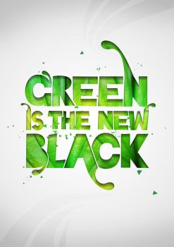 Green is the new black by januz