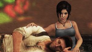 Nate and Lara - A Quiet Moment by AlienFodder