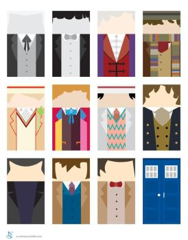 Doctor Who - 11 Doctors by batteryfish