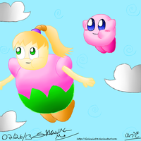Kirby and Fumu for xXKaijuKing91Xx by Galaxia34