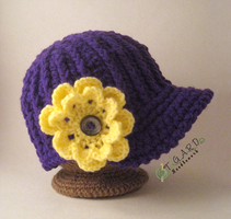 Cabled Flower Hat by tigardneedlework