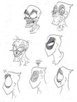 Deadpool Expressions by SpiketheKlown