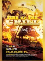 Fire up the Grill Flyer Template by loswl