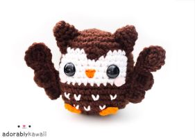 cute brown owl amigurumi by adorablykawaii