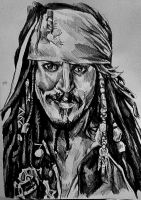 Captain Jack Sparrow by Panicatthedisco7