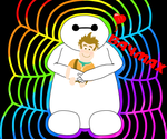 Baymax with a plush Wreck it Ralph by DarkwingFan