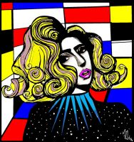 Telephone Dance floor Artpop - Gaga's Drawing by Vincent2215