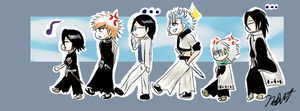 Bleach Chibis by NeoRuki
