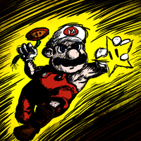 Invincible Fire Mario by slaymanexe