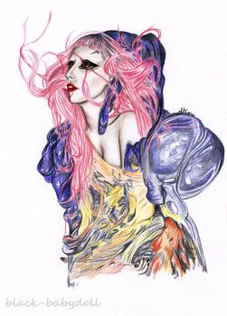 Lady Gaga by black-babydoll