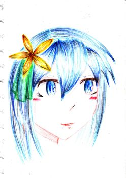 Blue Haired Girl by Lisis47