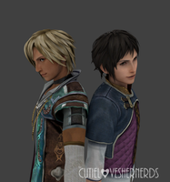 David and Rush (The Last Remnant) by Cutieloveshernerds