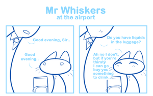 Mr Whiskers at the airport by SmokyJack