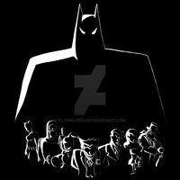 Batman T-shirt design fanart by Flying-pen