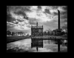 The Pumping Station - Pano - Mono by Wayman