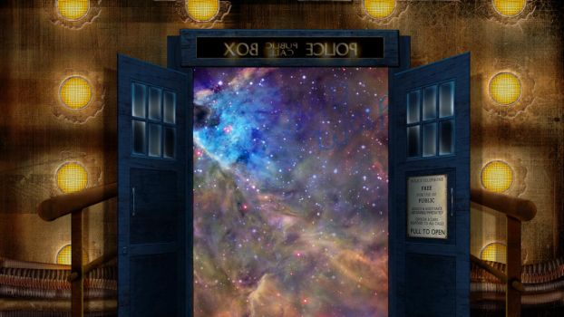 10th Doctor TARDIS Wallpaper by xxtayce