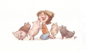 pigs pigs those wonderful pigs by VODKABABY