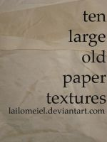 Old Paper Textures II by lailomeiel
