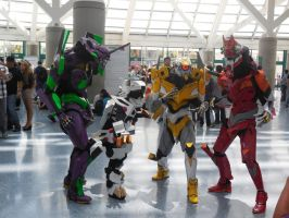 Anime Expo Day 4-  Liger Zero and the Evas by MidnightLiger0