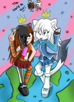 Comission: Shiro and Mony by Sonne-ii3