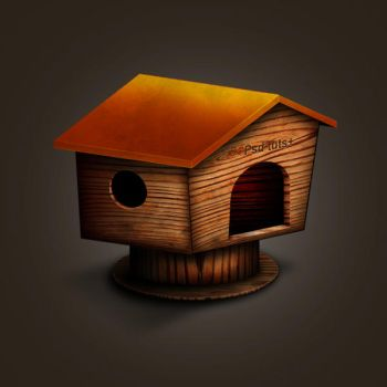 Wood House Icon by childesign