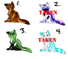 Cat Adoptables 3 OPEN. by BlueFox-Adopt-Agency