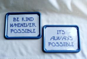Cross Stitch Inspirational Quote Set by agorby00