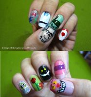 Alice in Wonderland nails by tharesek