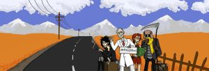 The Four Hitchhikers of the Apocalypse by 010001110101