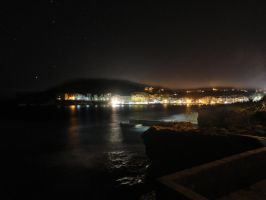 Marsalforn Seafront at Night by ryn004
