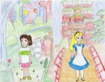 Alice and Chihiro Switch Places by Subarufoxboy